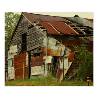 Old Barn with Tin Poster