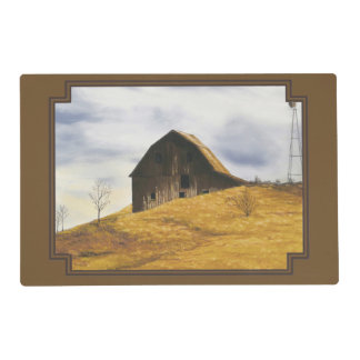 Old barn with windmill placemat