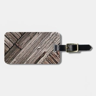 Old Barn Wood Abstract Luggage Tag