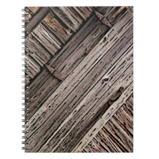 Old Barn Wood Abstract Spiral Note Book