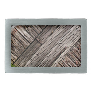 Old Barn Wood Abstract Rectangular Belt Buckle