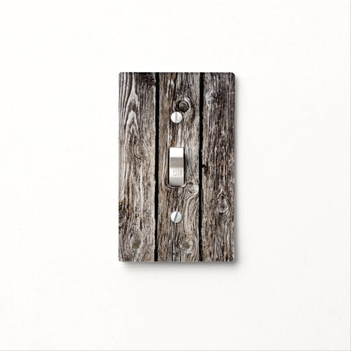 Barn Light Covers: Old Barn Wood - Light Switch Cover