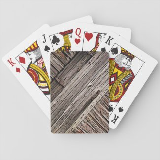 Old Barn Wood Playing Cards