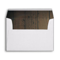 Old Barn Wood Rustic Country Wedding Envelope