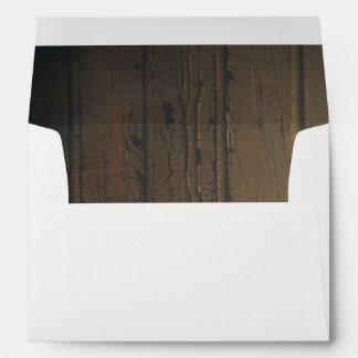 Old Barn Wood Rustic Country Wedding Envelope