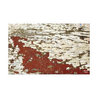 Old Barn Wood Siding Teztured Peeling Paint Shabby Canvas Print