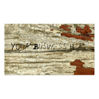 Old Barn Wood Texture Vintage Peeling Paint Shabby Double-Sided Standard Business Cards (Pack Of 100)
