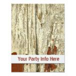 Old Barn Wood Texture Vintage Peeling Paint Shabby Custom Announcements