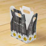 Old Barn Wood White Daisy Personalized Favor Box