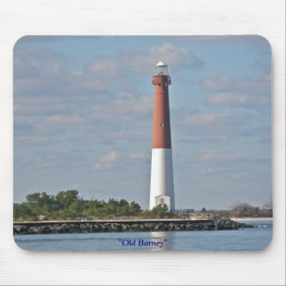 """Old Barney"" Barnegat Lighthouse LBI NJ Mouse Pad"