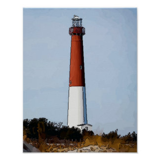 Old Barney, LBI New Jersey Poster