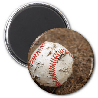 old baseball 2 inch round magnet