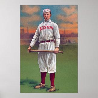old baseball boston poster