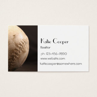 Old Baseball Business Card