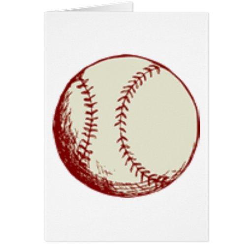 Old Baseball Design Card