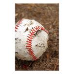 old baseball personalized stationery