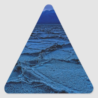 Old Basin at Dusk Triangle Sticker