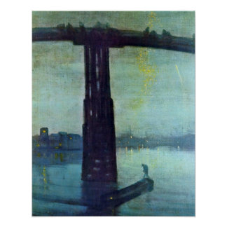 Old Battersea Bridge by James McNeill Whistler Print