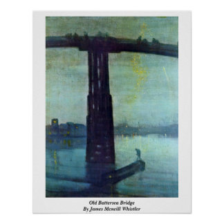 Old Battersea Bridge By James Mcneill Whistler Posters