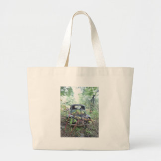 Old Beat Up Truck Large Tote Bag