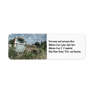 Old Beater Truck - Rusty Vintage Farm Vehicle Label