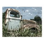 Old Beater Truck - Rusty Vintage Farm Vehicle Postcard
