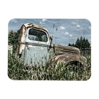 Old Beater Truck - Rusty Vintage Farm Vehicle Rectangular Photo Magnet
