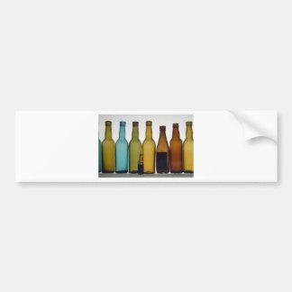 Old beer bottles car bumper sticker