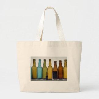 Old beer bottles large tote bag