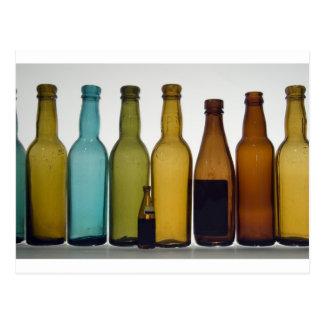 Old beer bottles postcard