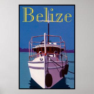 """ Old Belizean Yacht "" Poster"