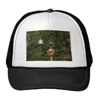 Old Bells and Birdhouse Christmas Wreath Trucker Hat