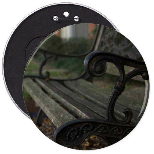Old Bench 6 Inch Round Button