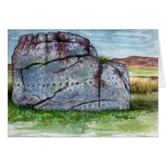 """Old Bewick"" Rock Art - Northumberland Note Card"