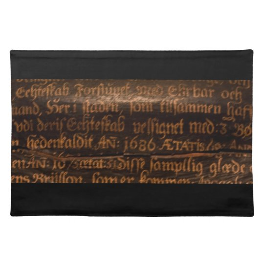 Old bible text placemat