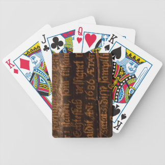 Old bible text standard playing cards