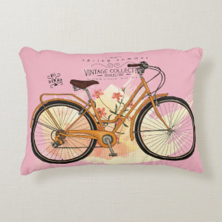 Old bicycle accent pillow