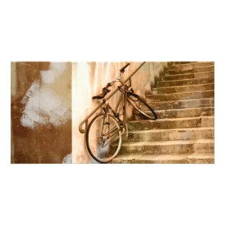 Old bike photo card