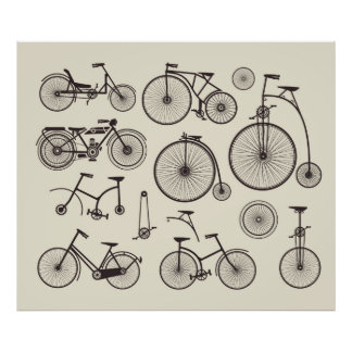 Old bikes poster