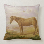 Old Billy, a Draught Horse, Aged 62 (oil on panel) Throw Pillow