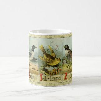 Old bird alphabet: Xema, Yellowhammer, Ouzel Coffee Mug