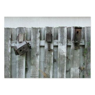 Old Bird Houses ~ Chubby Large Business Card