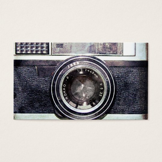 Old black camera business card zazzle old black camera business card colourmoves Choice Image