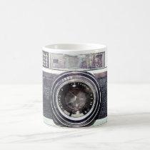 photography, camera, vintage, analog, film, cool, funny, hipster, photographer, urban, photo, retro, old school, geek, cute, old, best, 35mm, mug, Caneca com design gráfico personalizado
