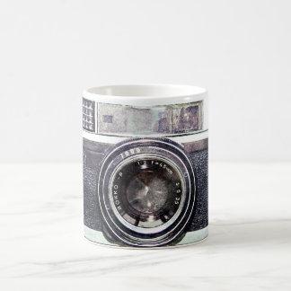 Old black camera coffee mug