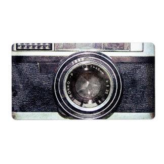 Old black camera custom shipping labels