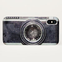 Old black camera iPhone x case