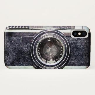Old black camera iPhone x case