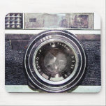 """Old black camera mouse pad<br><div class=""""desc"""">Hello and welcome,  this design is a retro camera .</div>"""