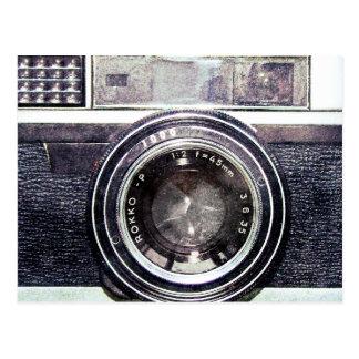 Old black camera post cards